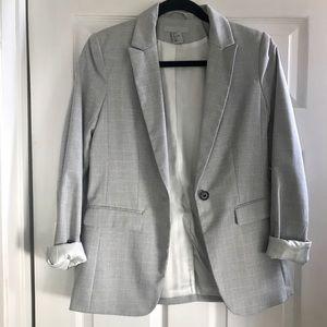 H&M gray plaid blazer jacket